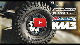 "VIDEO: Pro-Line Class 1 BFGoodrich Mud-Terrain T/A KM3 1.9"" Truck Tires"