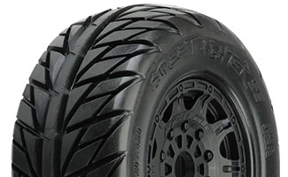 "1167-24 | Street Fighter SC 2.2""/3.0"" Tires Mounted on Raid Black 17mm Wheels"