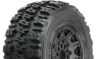 "1190-24 | Trencher X SC 2.2""/3.0"" Tires Mounted on Raid Black 17mm Wheels"