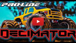 "VIDEO: Pro-Line Decimator 2.6"" Solid Axle Monster Truck Tire"