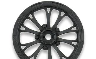 "2775-03 | Pomona Drag Spec 2.2"" Black Front Wheels"