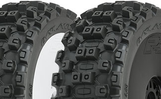 9067   Badlands MX All Terrain 1:8 Buggy Tires Mounted