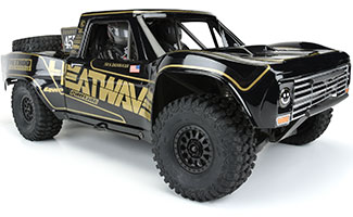 3547-18 | Pre-Painted / Pre-Cut 1967 Ford F-100 Race Truck Heatwave Edition (Black) Body